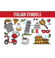 italian national symbols promotional travel agency vector image vector image