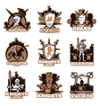 Knights Colored Emblems vector image vector image
