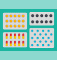 medication blisters pills set vector image