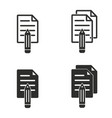 notepad icon set vector image