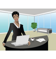 office illustration vector image vector image