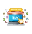 Online Shopping with App vector image vector image