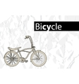 outline bicycle vector image vector image