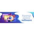 parental control software concept banner header vector image