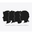 people head silhouette design vector image vector image