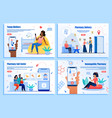 pharmacy digital services app web banners vector image vector image