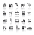 pictograms hotel services vector image vector image