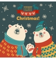 Polar bears say hello vector image vector image