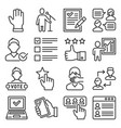 political election and vote icons set vector image vector image