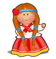rag doll in the form of a girl in russian folk vector image