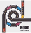 roads and ways design vector image