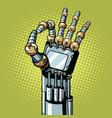 robot ok okay gesture hand vector image vector image