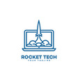 rocket tech logo vector image