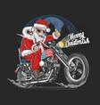 santa claus christmas usa america tour biker motor vector image