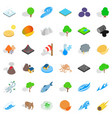 save the earth icons set isometric style vector image vector image
