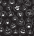Seamless pattern Of Vintage Happy Halloween vector image vector image