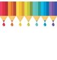 set colored pencil vector image