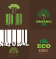 set or organic signs and logo design elemen vector image vector image