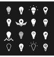 set symbols lamp vector image vector image
