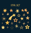 set with night star shape vector image vector image