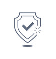 shield with check mark icon thin line for web and vector image vector image