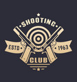 shooting club logo emblem with two pistols vector image vector image