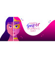 superhero womens day 2018 heroine concept banner vector image vector image