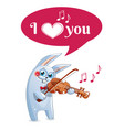 the hare plays the violin love vector image