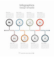 timeline design template with place for your data vector image vector image