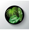 tropical plants round banner vector image vector image