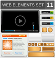 web elements set 11 vector image vector image