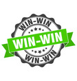 win-win stamp sign seal vector image vector image