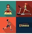 women fitness vector image