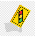 light traffic sign isometric icon vector image