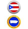 button as a symbol PUERTO RICO vector image