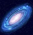Beautiful Glowing Andromeda Galaxy vector image