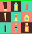 cream packaging bottles vector image
