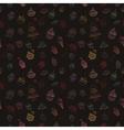Hand-drawn seamless cupcake pattern vector image