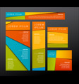 5 banner templates vector image vector image