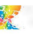 abstract background colorful element on white vector image vector image