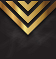 abstract gold design on blackboard texture vector image vector image