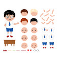 adorable little school boy character constructor vector image vector image