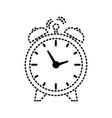 alarm clock sticker vector image vector image