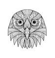 australian barking owl mandala vector image vector image