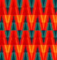 aztec bright triangle seamless pattern vector image