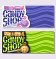 banners for candy shop vector image vector image