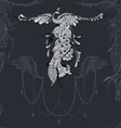 Bird Phoenix lace decor vector image vector image