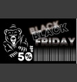 black friday sale banner layout design vector image vector image