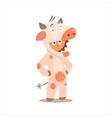 Boy Desguised As Cow vector image vector image