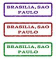 brasilia sao paulo watermark stamp vector image